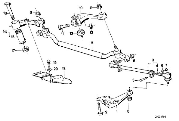 bmw e38 front suspension diagram  bmw  auto parts catalog