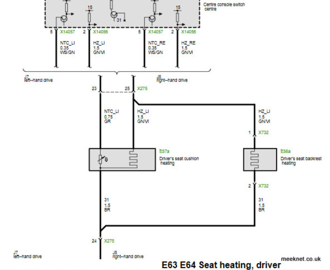 Thread E36 Heated Seats Wiring Diagram