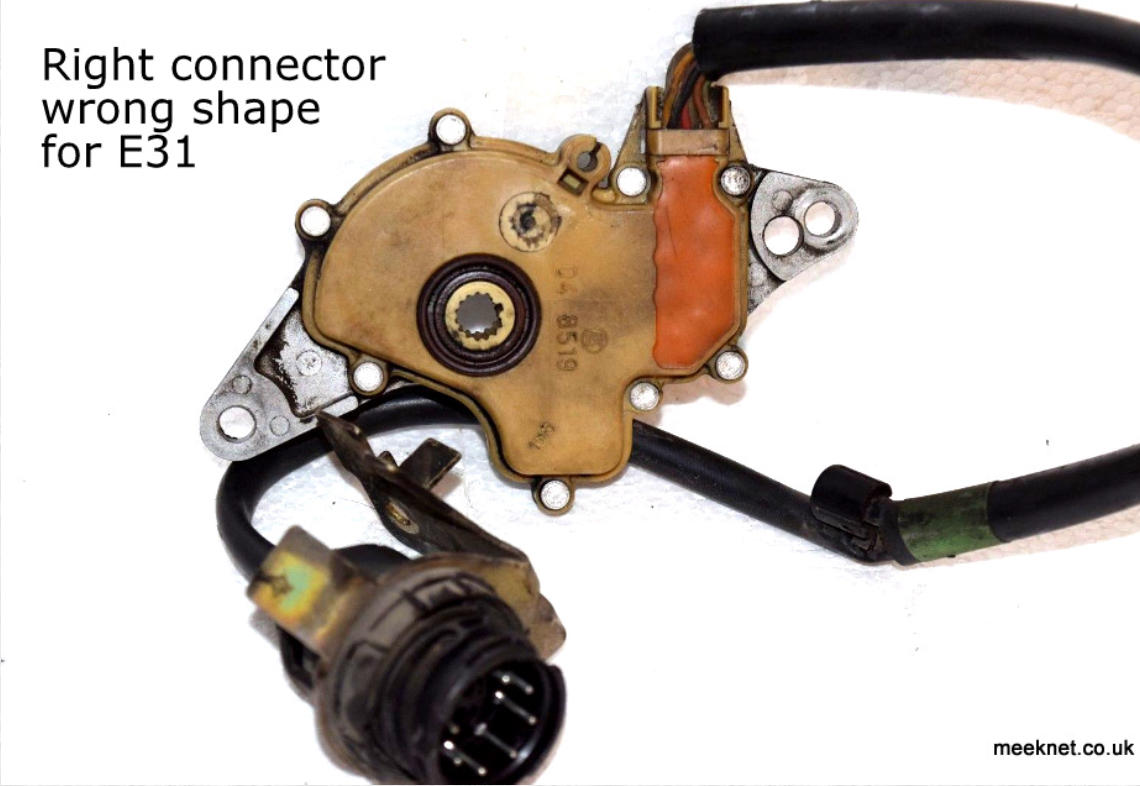 Timms Bmw E31 E32 E38 E39 Solving Trans Fail Safe Problems Wiring Diagrams So If You Are Buying A Switch From Ebay Spend Bit Of Time Looking At The Pictures And There Is No Picture Connector Ask Seller To Confirm